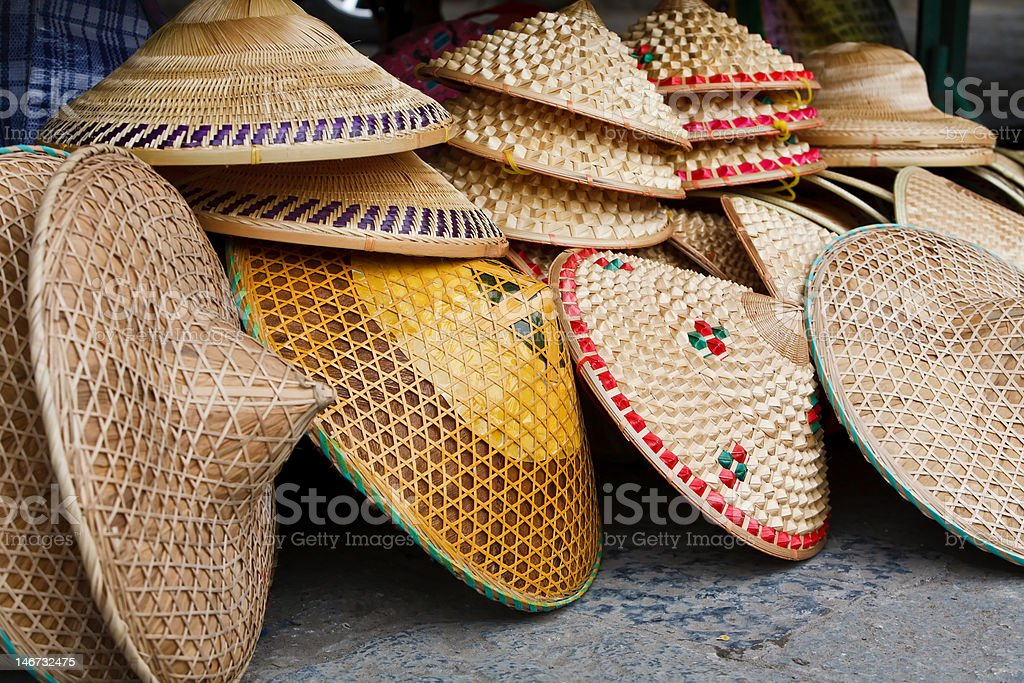 Oriental Conical Hats stock photo
