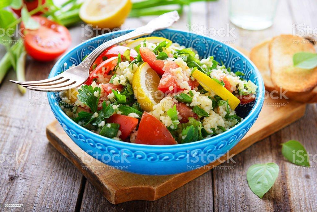 Oriental cuisine - tabouli stock photo