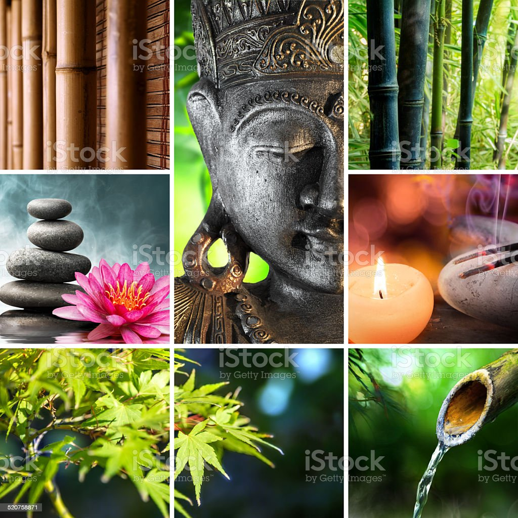 oriental culture - zen and spirituality concept stock photo