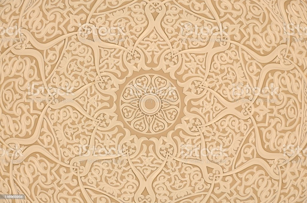 Oriental decoration background stock photo
