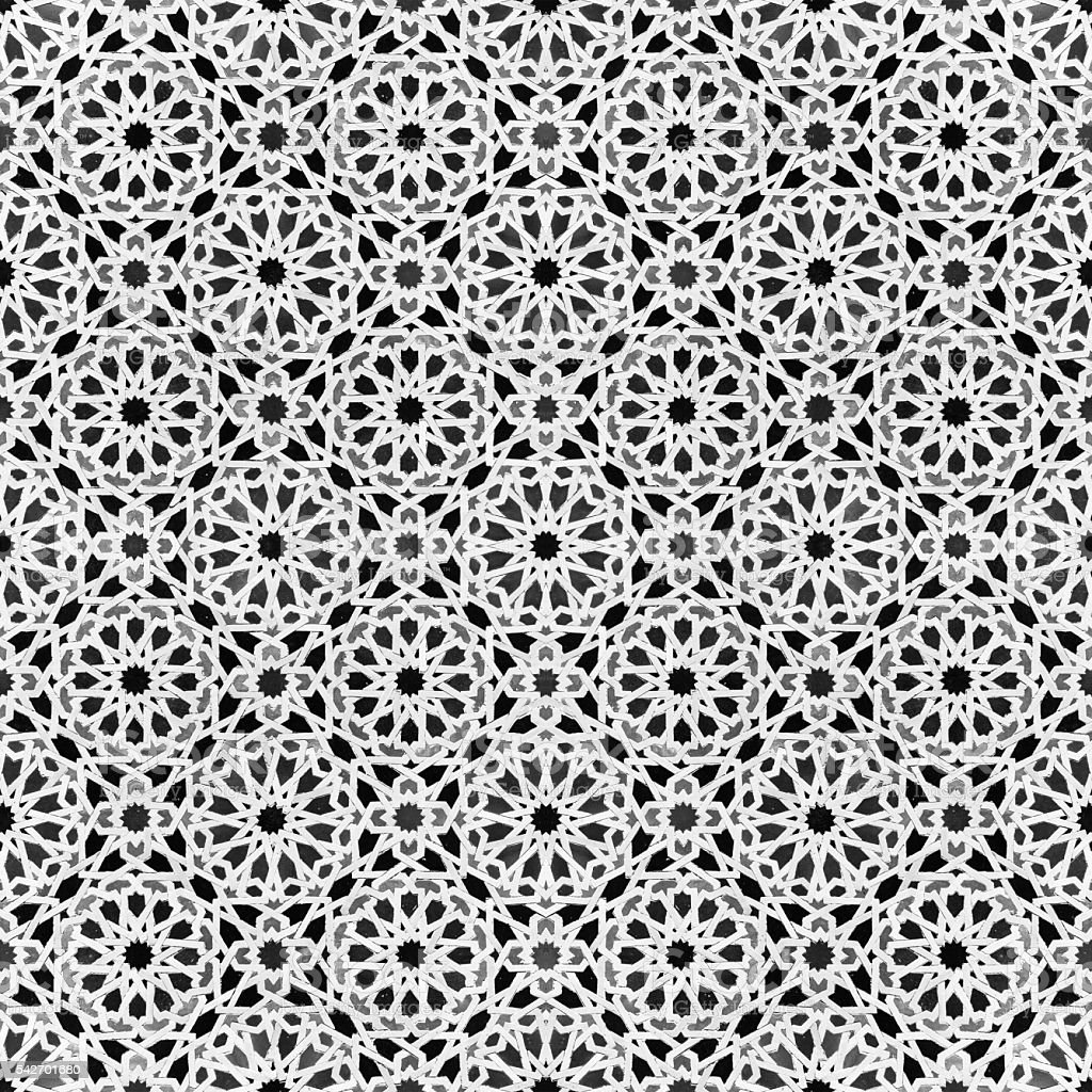 oriental design - morocco tile patten stock photo
