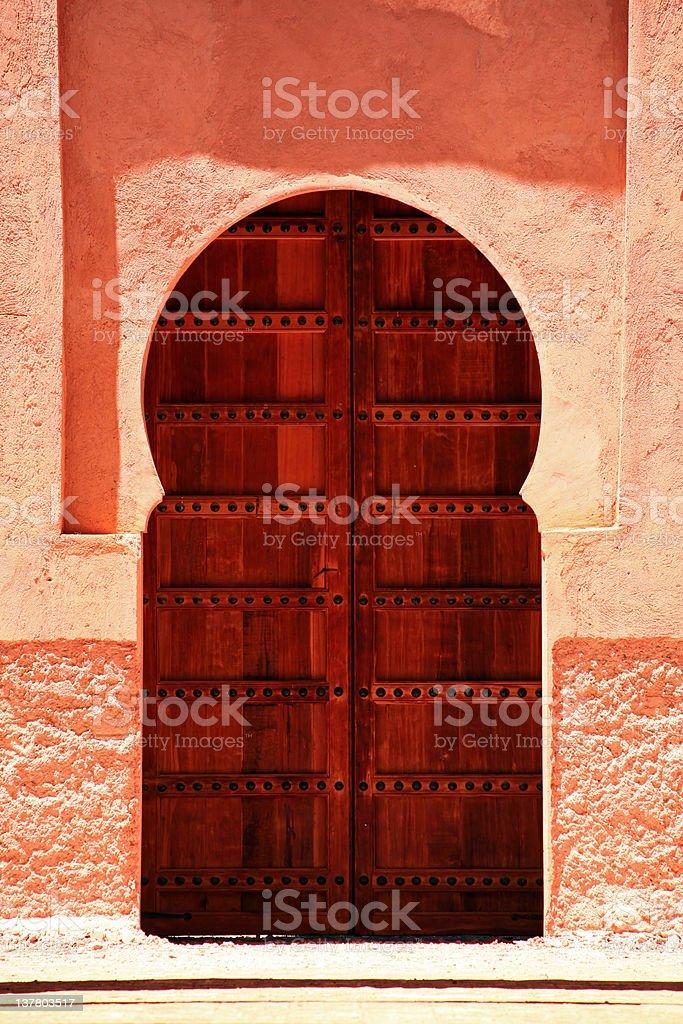Oriental Door in Morocco royalty-free stock photo