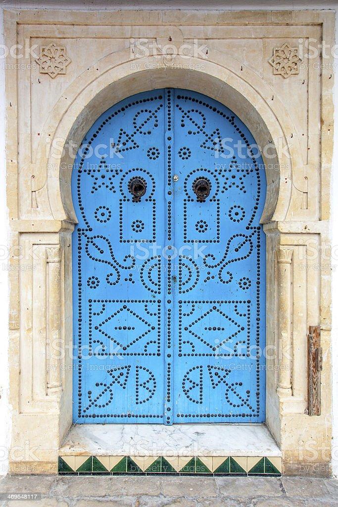Oriental door stock photo