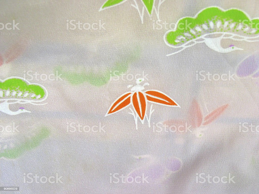 Oriental Fabric royalty-free stock photo