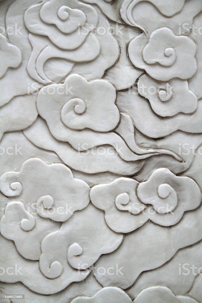 Oriental flower pattern stock photo