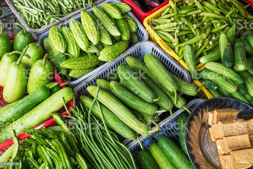 Oriental green vegetables stock photo