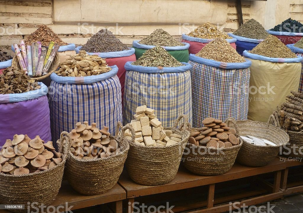 oriental herbs and spices stock photo