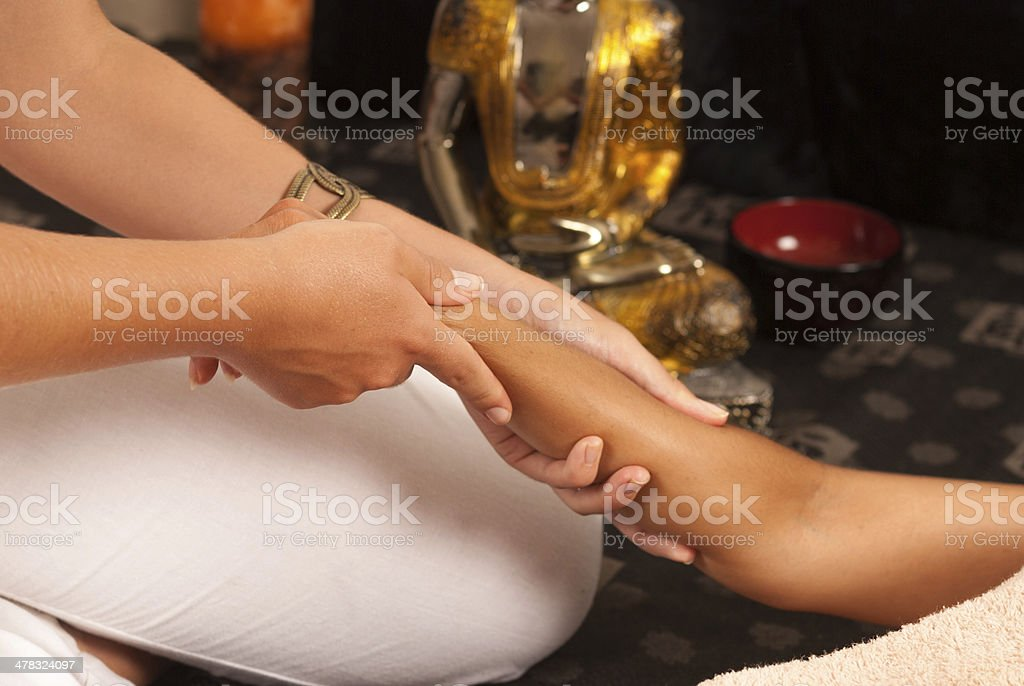 Oriental massage royalty-free stock photo