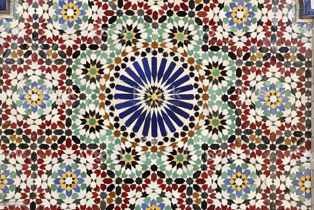 Oriental mosaic decoration royalty-free stock photo