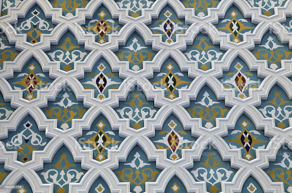 Oriental mosaic decoration royalty-free stock photo
