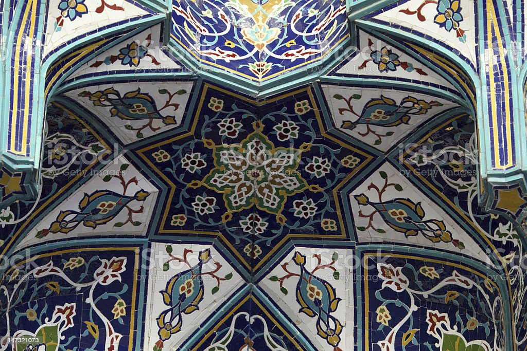 Oriental mosaic in a mosque royalty-free stock photo