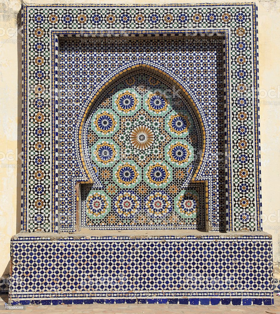 Oriental mosaic in Morocco royalty-free stock photo