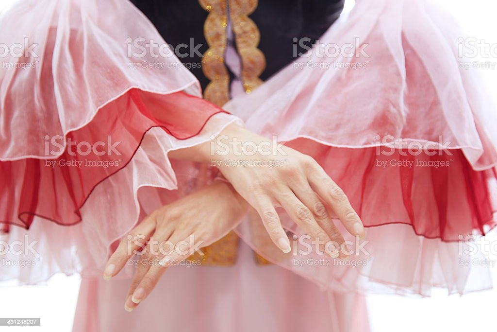 Oriental national costume stock photo