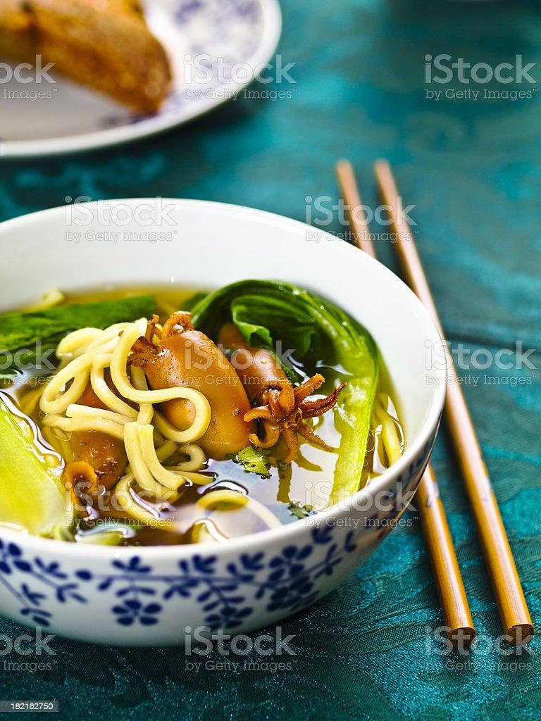 Oriental Noodle Soup stock photo