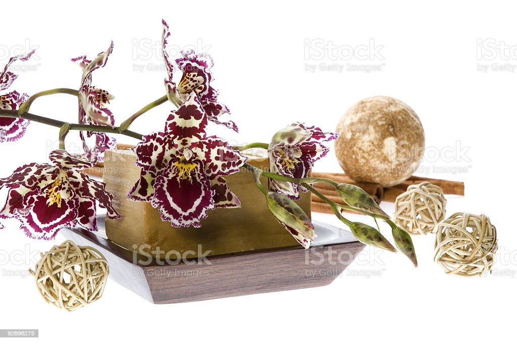 oriental. orchid bath royalty-free stock photo