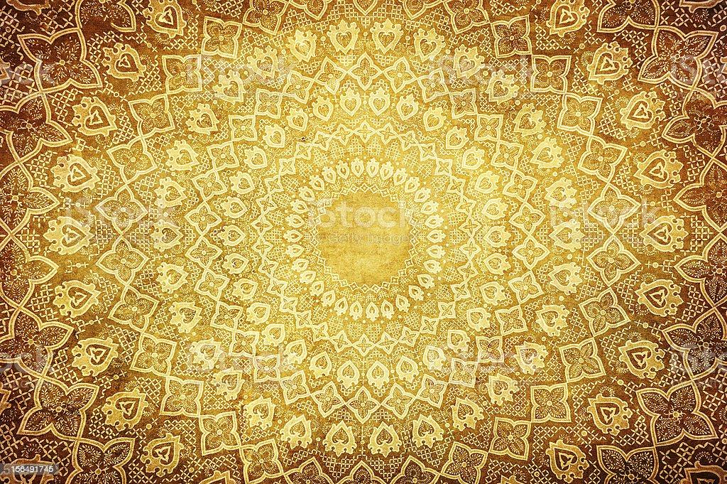 Oriental ornaments on circular pattern royalty-free stock photo