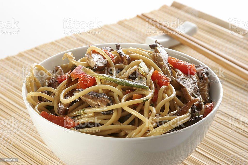 Oriental pasta III stock photo
