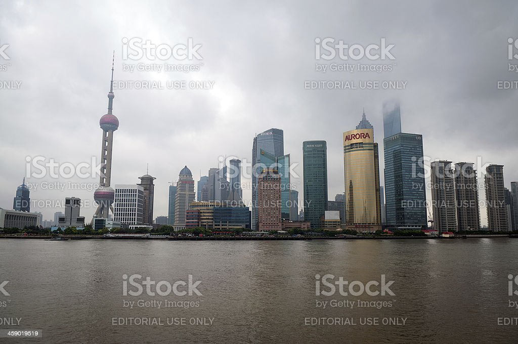 Oriental Pearl Tower in Shanghai Skyline China Asia royalty-free stock photo
