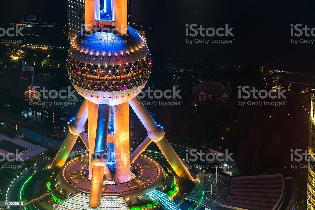 Oriental Pearl Tower - Shanghai stock photo
