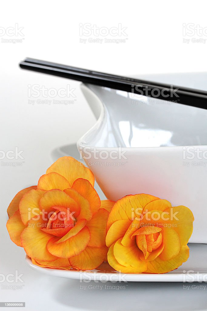 Oriental Place Setting royalty-free stock photo