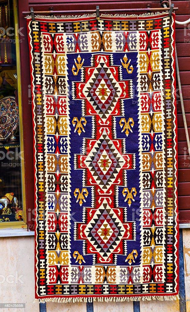 oriental rug stock photo