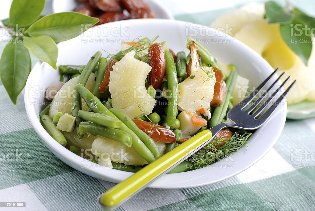 Oriental salad with vegetables royalty-free stock photo