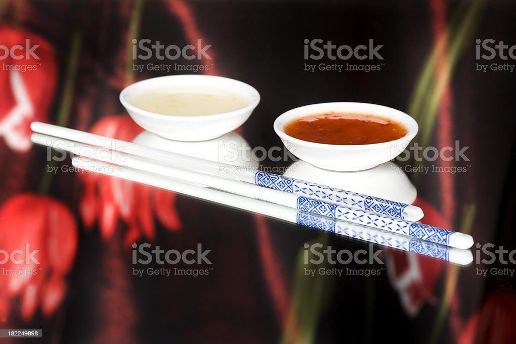 oriental sauce stock photo