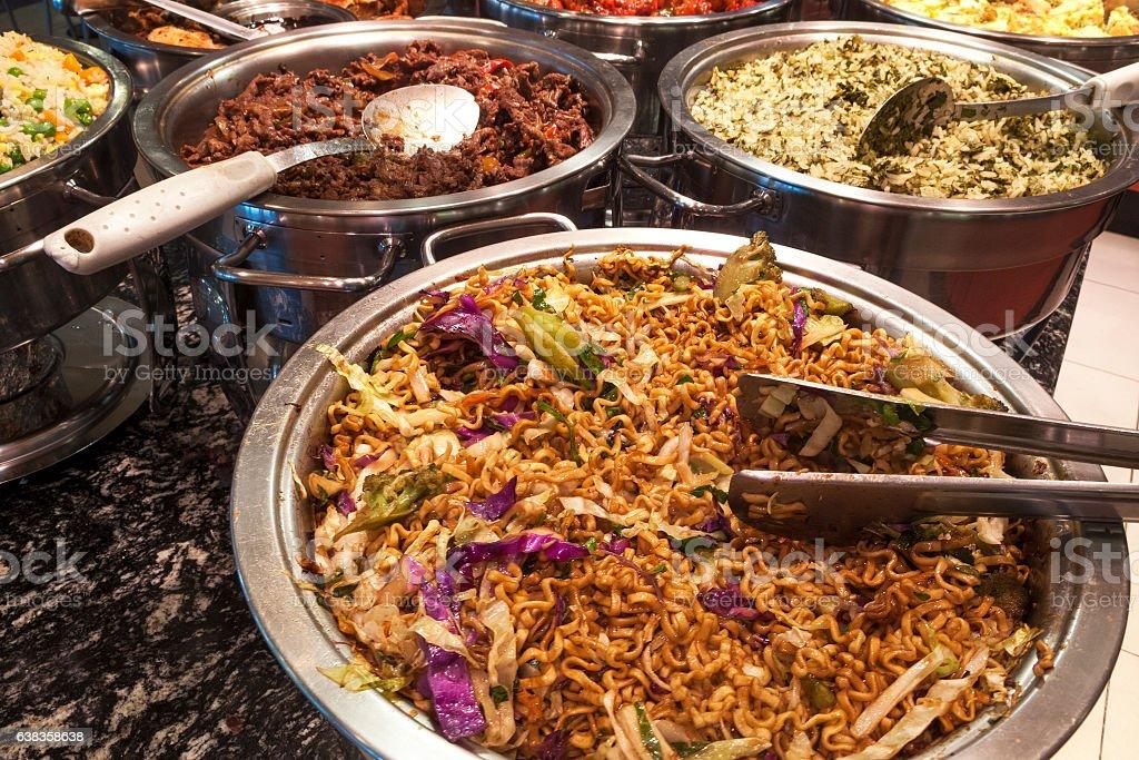 Oriental self service food stock photo