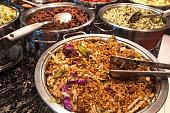 Oriental self service food