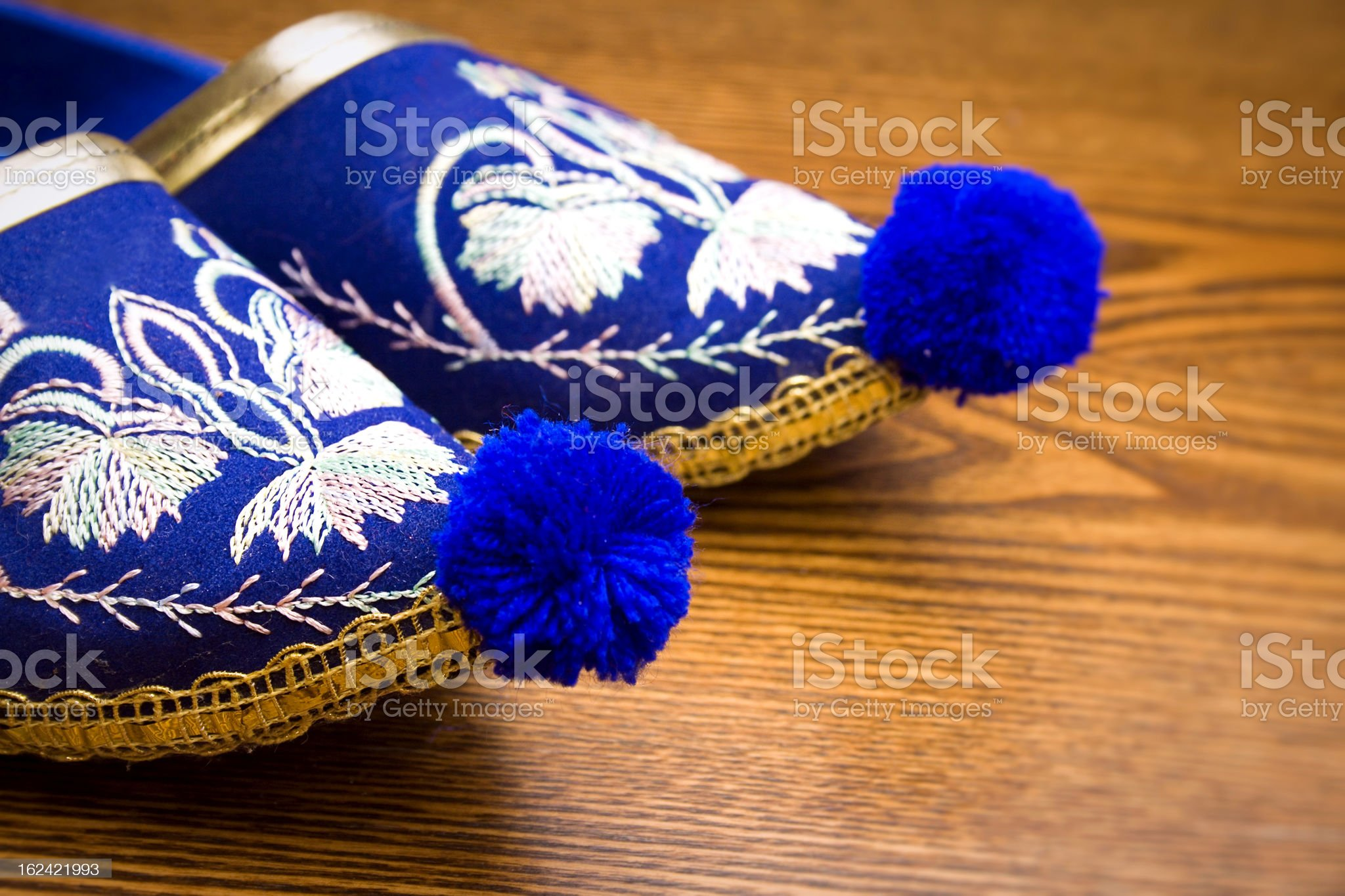 Oriental slippers royalty-free stock photo