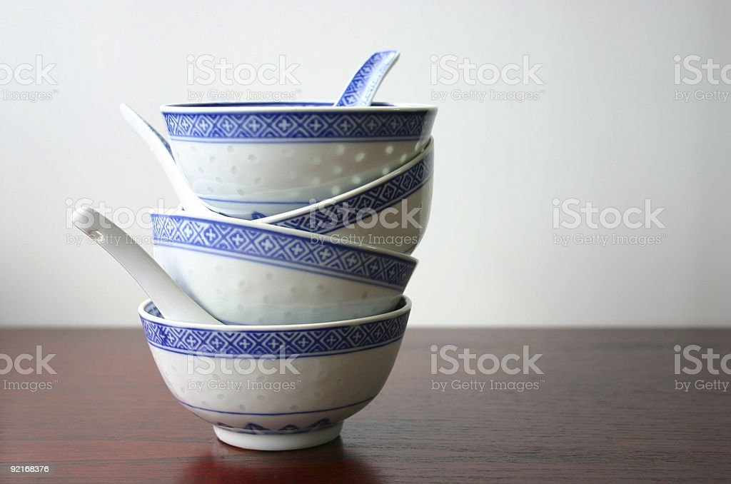 Oriental soup bowls -- Victoriana series royalty-free stock photo