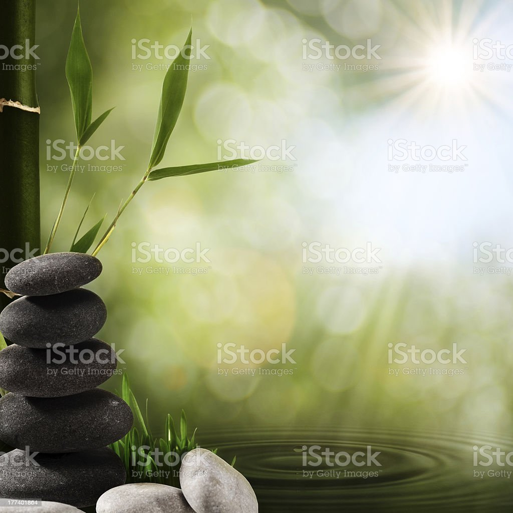 Oriental spa backgrounds stock photo