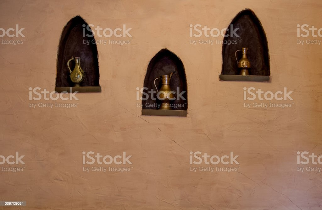oriental style decorating stock photo