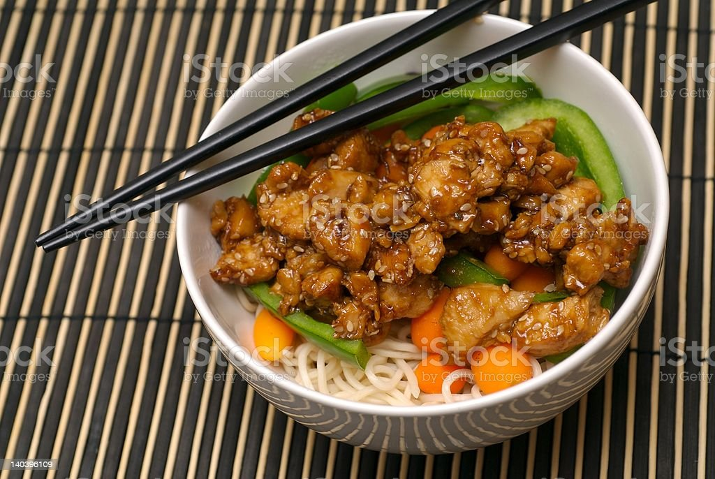 Oriental Style Noodle Bowl royalty-free stock photo