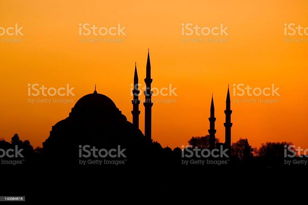 Oriental Sunset, Istanbul, Turkey royalty-free stock photo