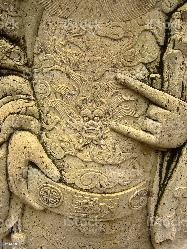 oriental temple art statue carvings royalty-free stock photo