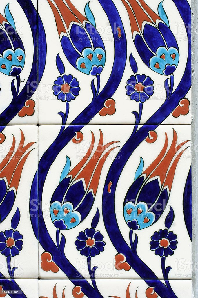 Oriental tiles royalty-free stock photo