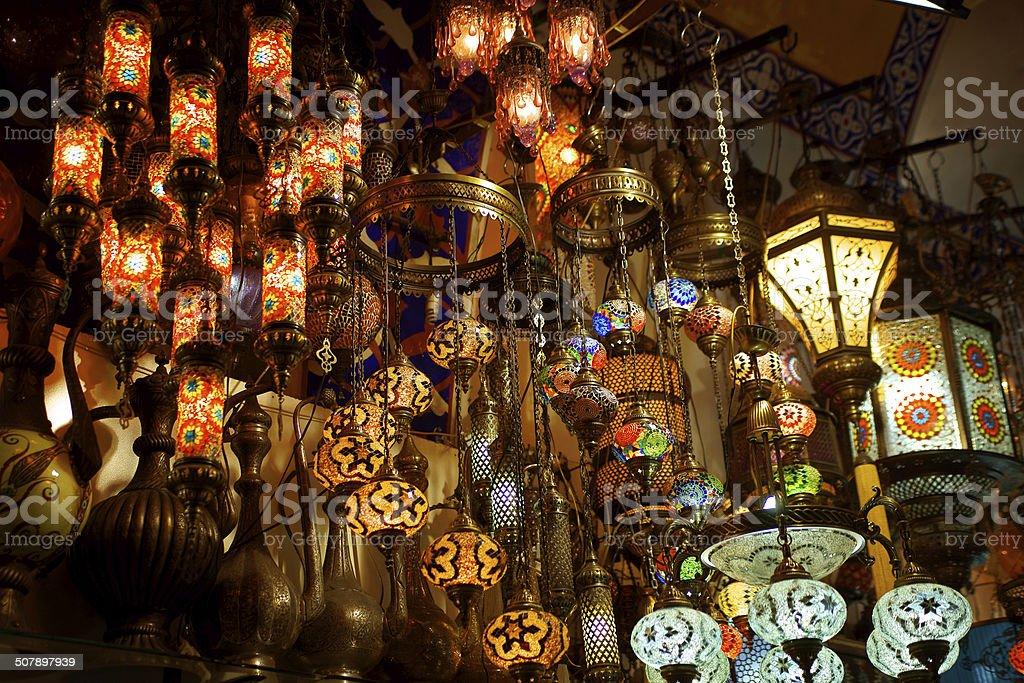 oriental turkish lamps royalty-free stock photo