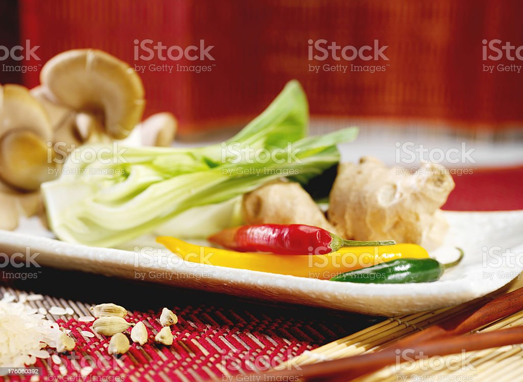 Oriental Vegetables stock photo