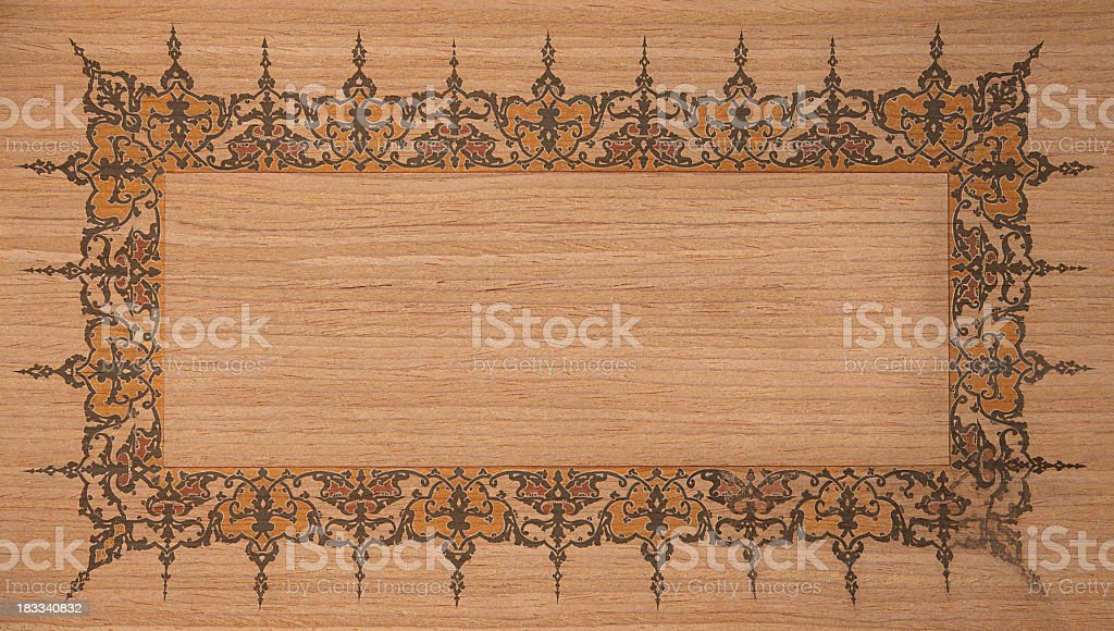 Oriental Wooden Background royalty-free stock photo