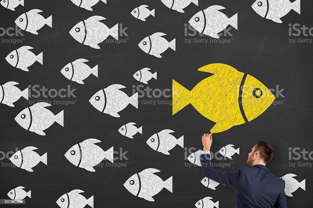Orientation Concept on Blackboard stock photo