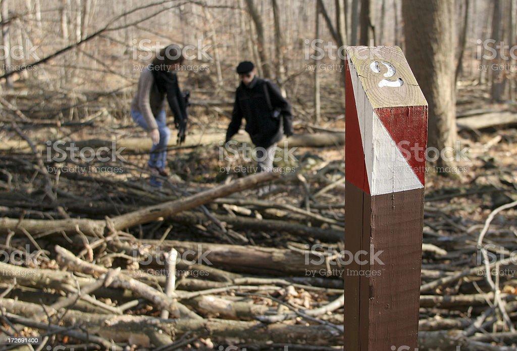 Orienteering Checkpoint stock photo