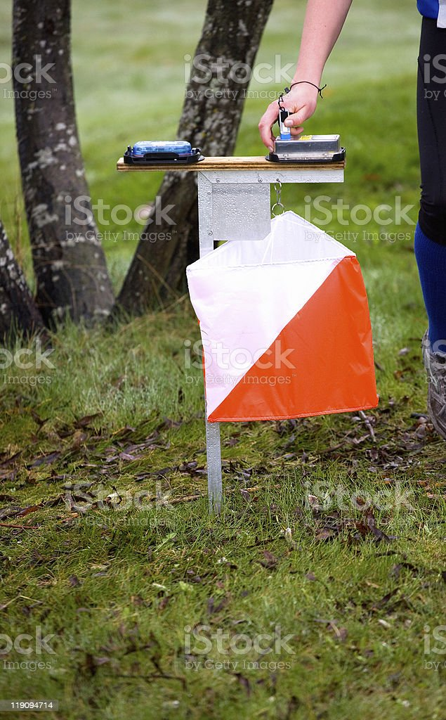 Orienteering Control stock photo