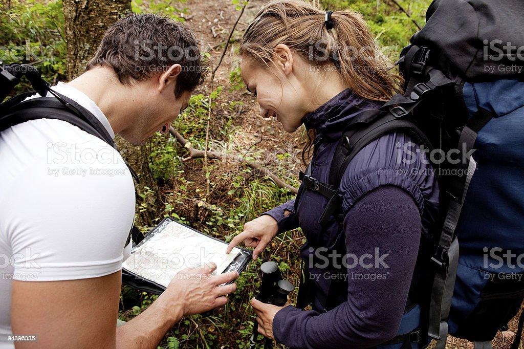 Orienteering Couple royalty-free stock photo