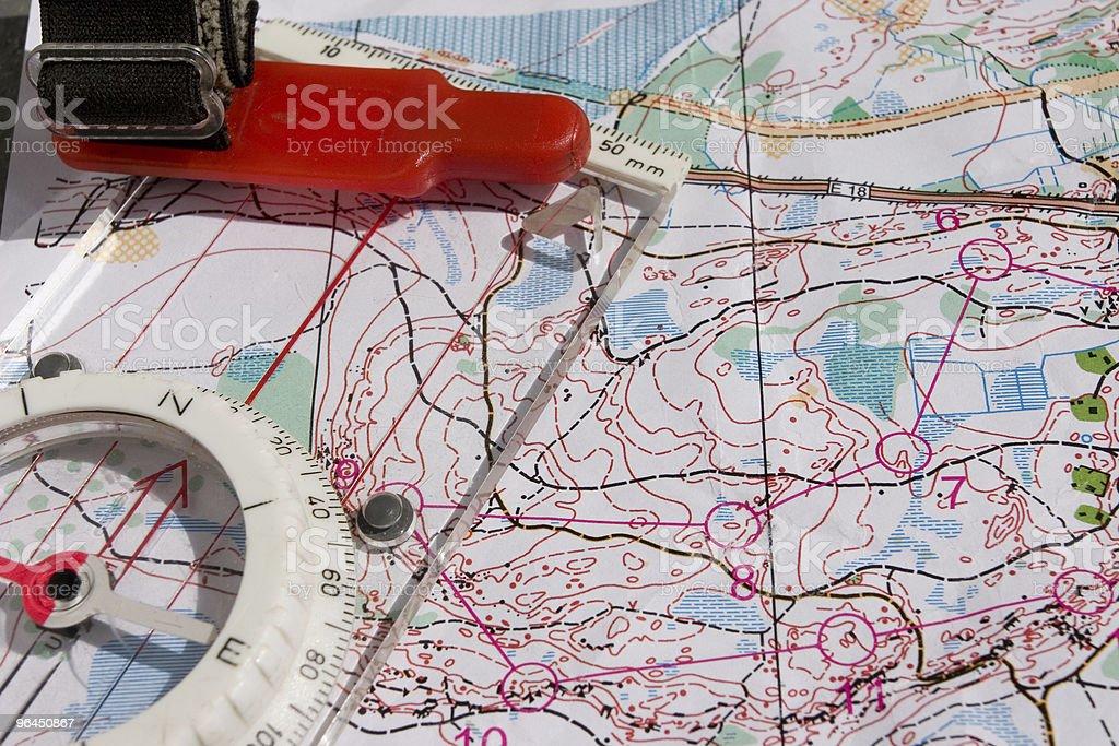 Orienteering Equipment royalty-free stock photo