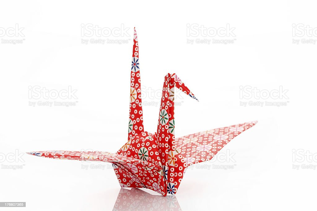 Origami bird royalty-free stock photo