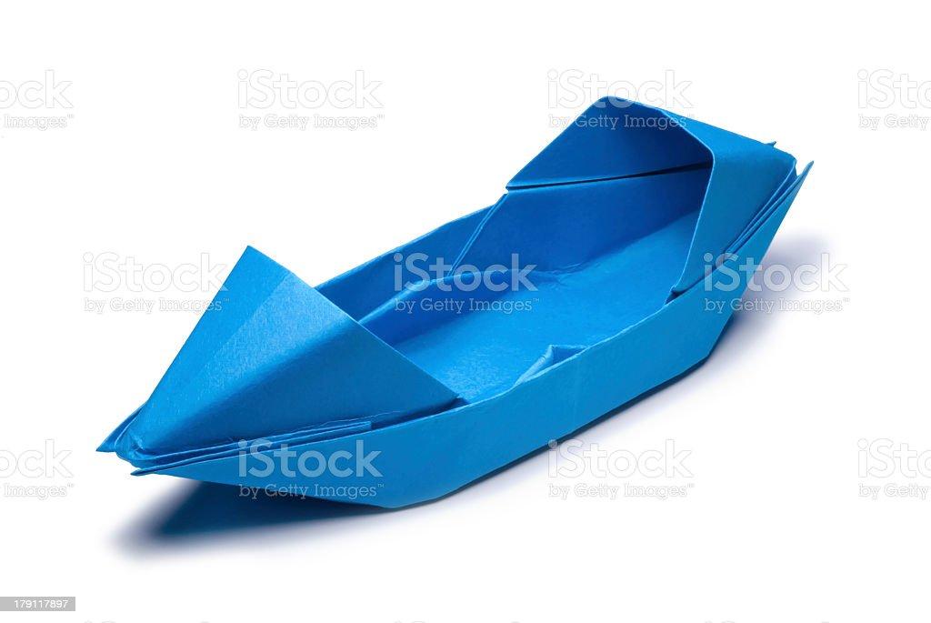 Origami Boat stock photo