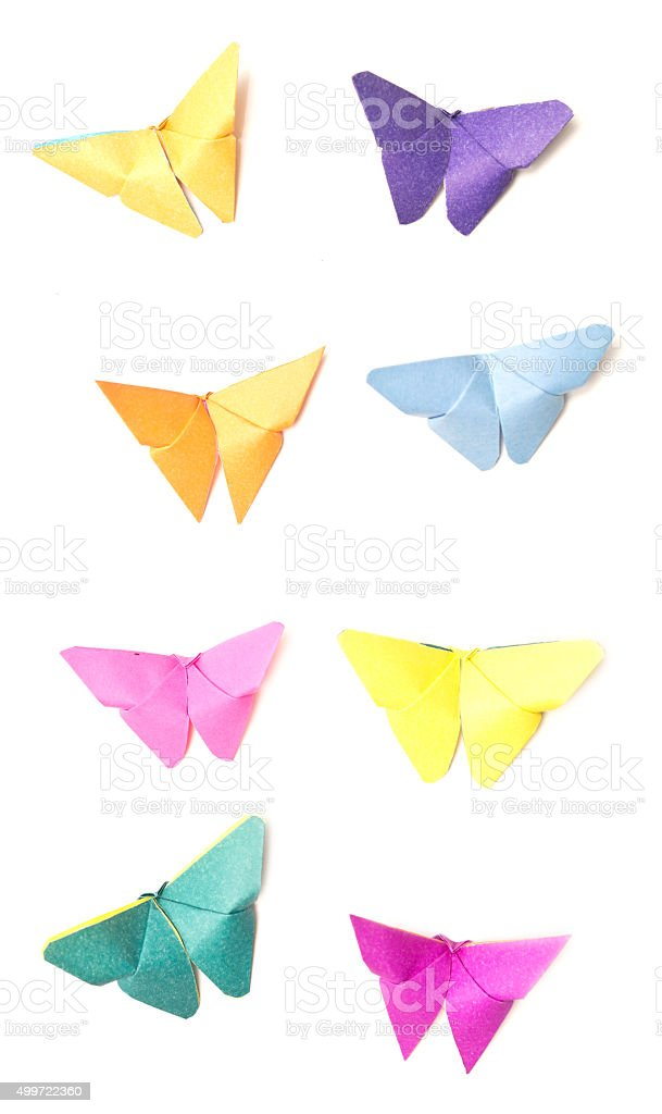 origami butterfly stock photo