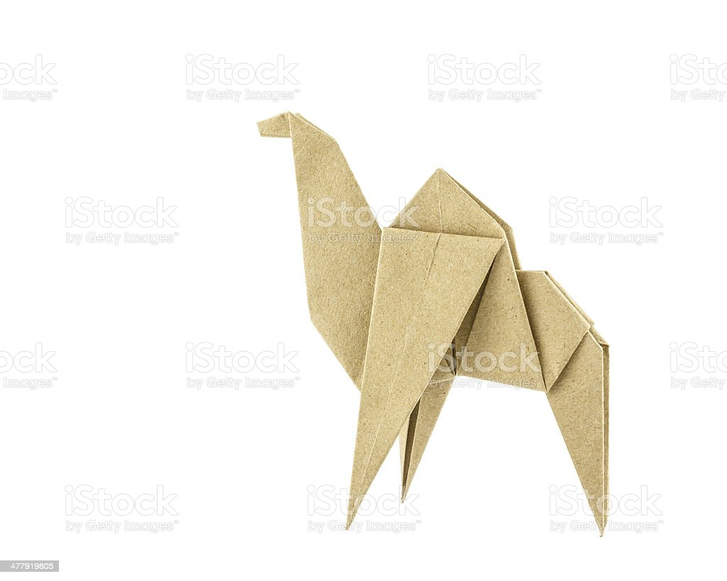 Origami camel recycle  paper royalty-free stock photo