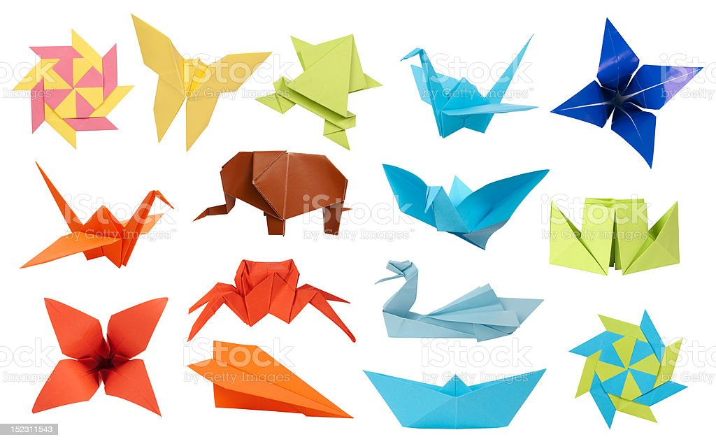Origami collection stock photo